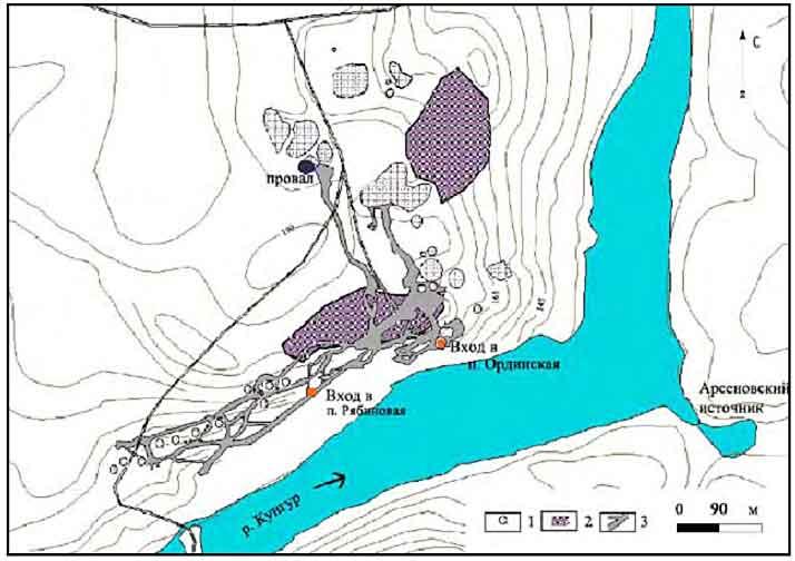 Ординская пещера схема